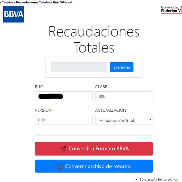 Aplicaciones BBVA – Convertidores PHP